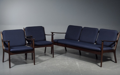 Ole Wanscher, sofa and pair of lounge chairs, model PJ 112 (3)