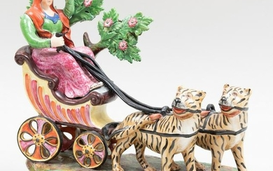 Staffordshire Figure of Cybele in Chariot
