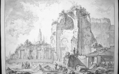 Piranesi, Giovanni: TEMPLE OF VENUS (CALLED OF SOL AND LUNA), Year 1759.