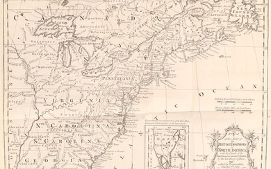 """""""[Maps in Book] A New Map of the British Dominions in North America; with the Limits of the Governments Annexed Thereto by the Late Treaty of Peace... [bound in] The Annual Register, or a View of the History, Politicks, and Literature…"""", Kitchin, Thomas"""
