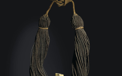 A NECKLACE, LEI NIHO PALAOA, HAWAIIAN ISLANDS