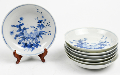 Chinese Blue-and-White Dishes, Flowers