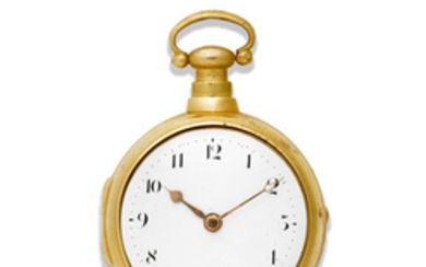 George Graham, London. A later cased gilt key wind open face pocket watch