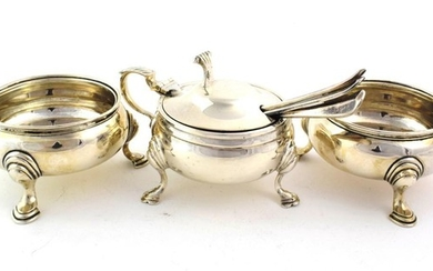 A Pair of George II Silver Salt-Cellars and An Elizabeth...