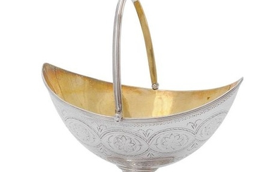 A George III silver pedestal sugar basket by William Abdy II