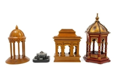 A Group of Architectural Models four total.