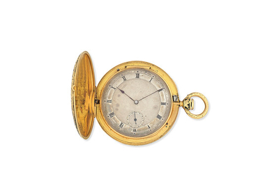 J. F. Bautte & Co, A Genève. A gold and enamel key wind full hunter pocket watch