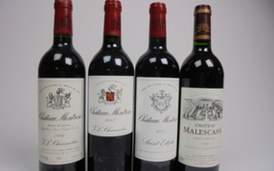 Mixed lot Bordeaux 1996/1998/2003/2005