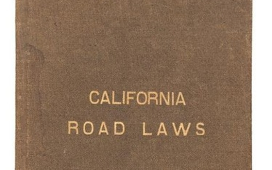 The Road Laws of California, 1885