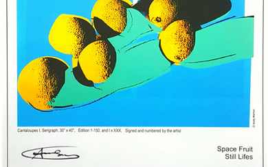 'Space Fruits: Still Life' Exhibition Poster (Cantaloupes I)