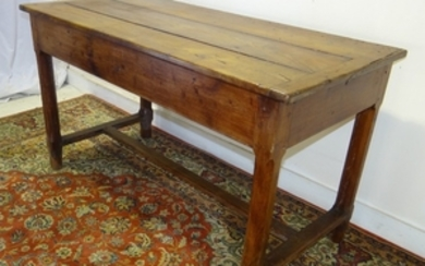 PROVINCIAL FRUITWOOD PETRIN TABLE W/STRAP HINGED TOP