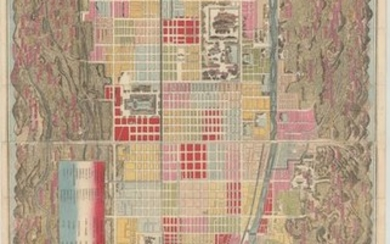 """""""Murata's Map of Kioto the Ancient Capital Containing a Table of Celebrated Buddhist Temples and Sintoo Temples, &"""""""