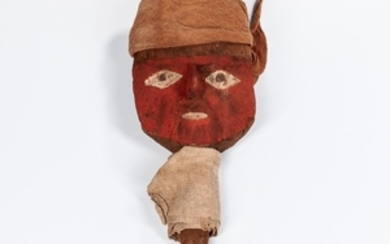 Chancay Wooden Marker Mask