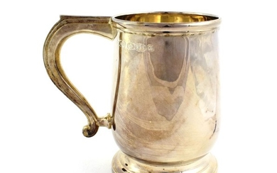 A Silver Mug, Maker's Mark TM Between Crossed Hammers, Probably...