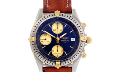 BREITLING - a gentleman's stainless steel Breitling Chronomat chronograph bracelet watch.