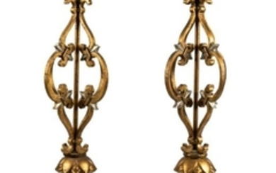 Gilt Iron Lamps - Pair