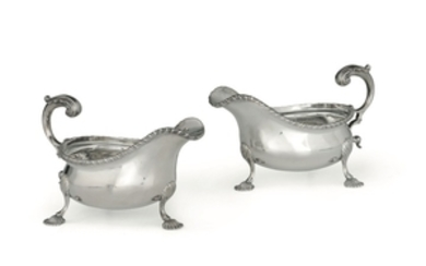 A pair of gravy boats, London, 1918
