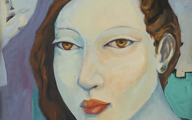 Miguel Martinez Portrait of a Woman Oil on Canvas
