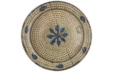 Plate Soup plate, with narrow brim and wide cavetto; small...