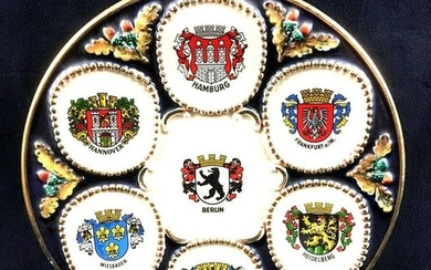 Vintage Collectors Plate Showing German City Coat of