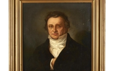 Anglo-American School 19th century Portrait of a gentleman Oil...