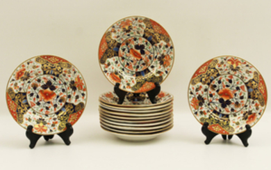 """SET OF 12 EARLY DERBY 7"""" PLATES"""