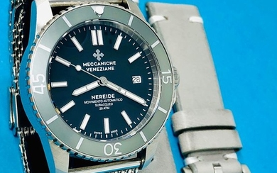 "Meccaniche Veneziane - Automatic Diver Watch Nereide 3.0 Silver 2 Straps - 1202008 ""NO RESERVE PRICE"" - Men - BRAND NEW"
