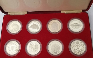 Great Britain and Commonwealth - Collection various cons 1977 'The Queen' s Silver Jubilee (8 different) in set - Silver