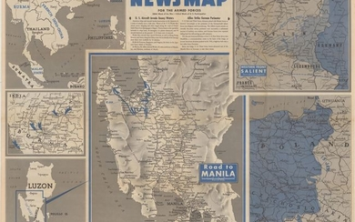 """""""Newsmap for the Armed Forces... [on verso] [Malaysia and Sumatra]"""", U.S. Gov't Printing Office"""