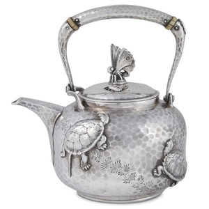 Small hammered sterling silver Japanese-style teapot Tiffany & Co.,...