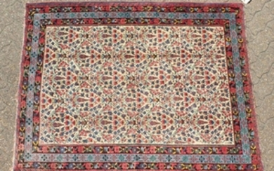 A FINE PERSIAN SIRJAN AFSHAR RUG with an allover
