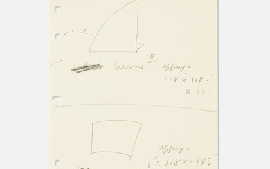 Ellsworth Kelly, Untitled (Studies for Curve I and II)