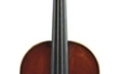 French Violin - R Berthelemy Alequme, Bleville (Normandy), 1924, bearing the maker's original signed label, length of two-piece back 358 mm.