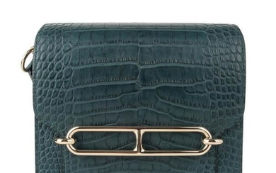 Hermes Mini Roulis Bag Vert Cypress Alligator