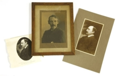 A signed black and white photograph of Robert Louis Stevenson, by the Falk Studios, 496 George St., ...