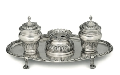 A silver inkwell, Genoa, 1783