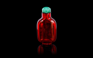 A red glass snuff bottle