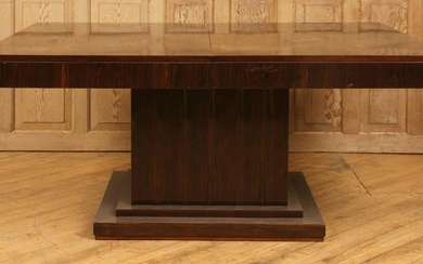 ART DECO ROSEWOOD DINING TABLE 2 LEAVES 1930