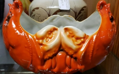 Early 20th Century Austrian Porcelain Lobster Bowl