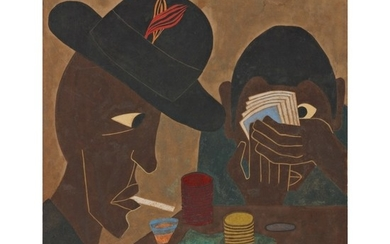 JACOB LAWRENCE | UNTITLED (CARD PLAYERS)
