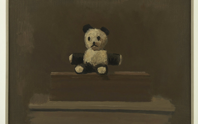 Mike Lynch Teddy Bear Oil on Canvas