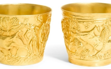 A PAIR OF MODERN VAPHIO GOLD CUPS, ZOLOTAS, ATHENS