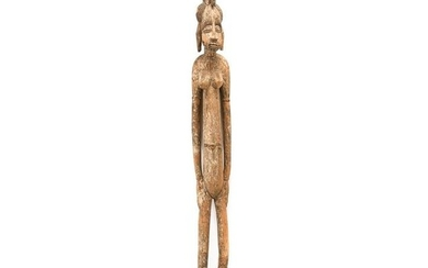 West African Senufo Carved Wood Fertility Figure.