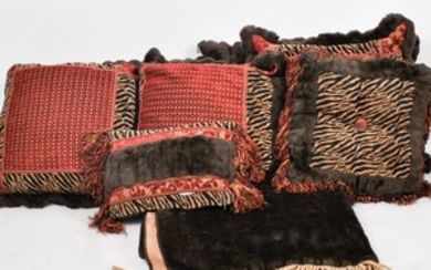 Animal Print and Faux Fur Pillows With