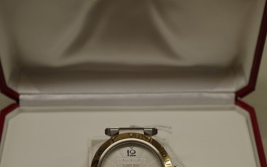 A Cartier Pasha stainless steel and 18k gold automatic wrist...
