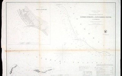 Chart of Eastern Entrance to Santa Barbara Channel