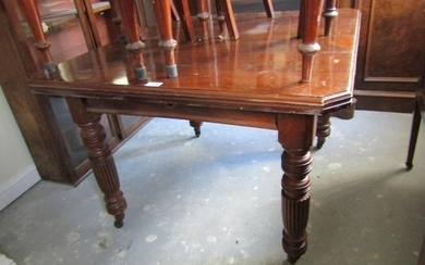 Victorian Canted Corner Dining Room Table Approximately 4ft ...