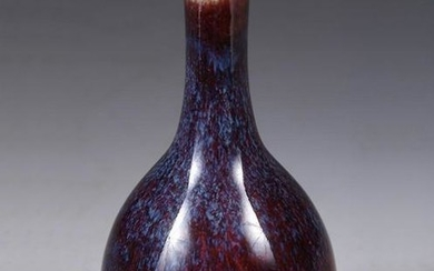 FLAMBE GLAZED PORCELAIN VASE