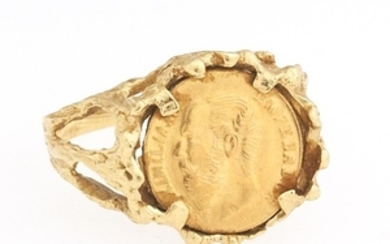 Ladies' High Carat Gold Emperor Maximilian 1865 Coin Gold Ring