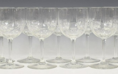 (9) BACCARAT MONTAIGNE OPTIC CRYSTAL WATER GOBLETS